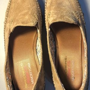 Skechers suede loafers